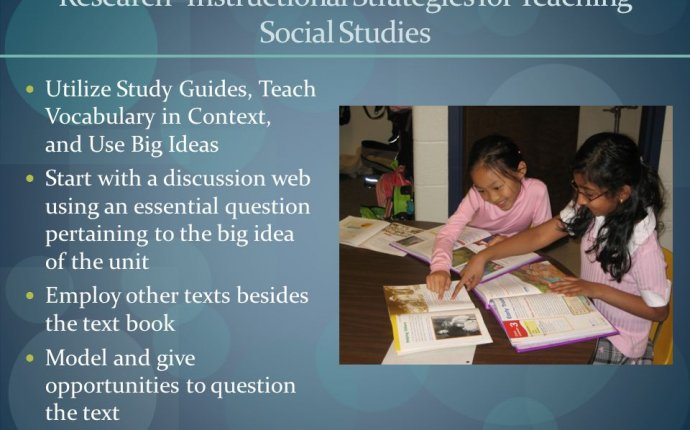 instructional strategies for teaching Social studies