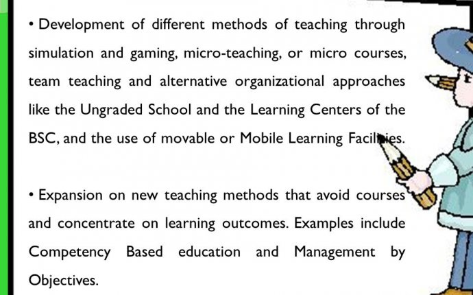 Different methods of teaching
