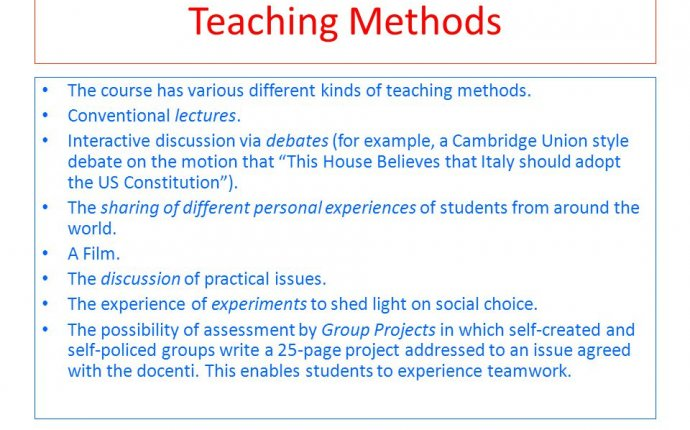 different kinds of teaching methods