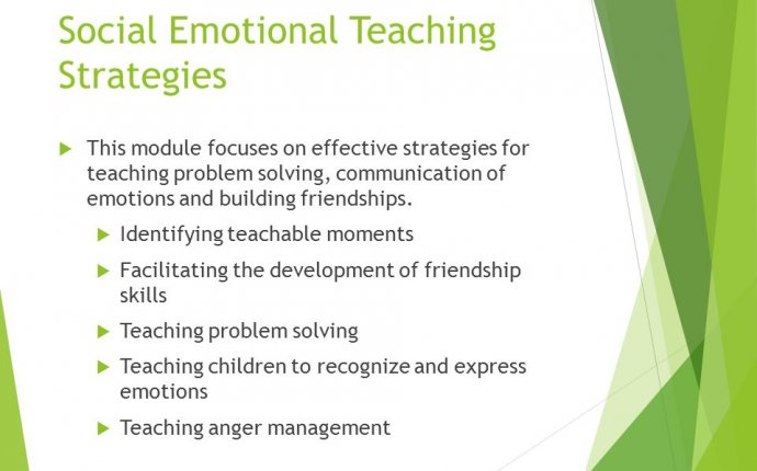 Social-Emotional teaching strategies