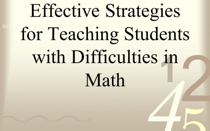 Effective strategies for teaching